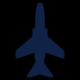 Silhueta de vista superior de avião militar