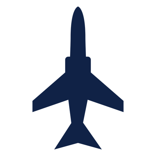 Military airplane top view silhouette