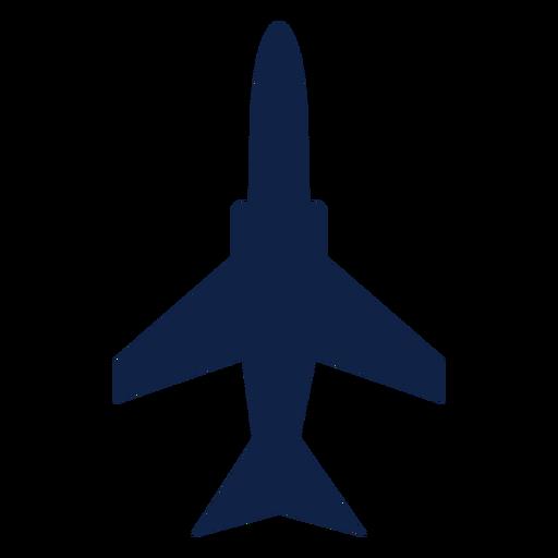 Silhueta de vista superior de avião militar Transparent PNG