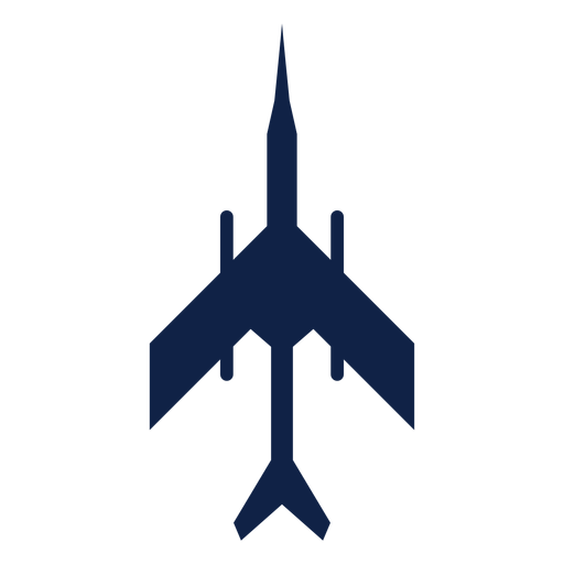 Military plane top view silhouette Transparent PNG