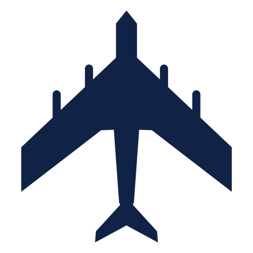 Military transport airplane top view silhouette Transparent PNG