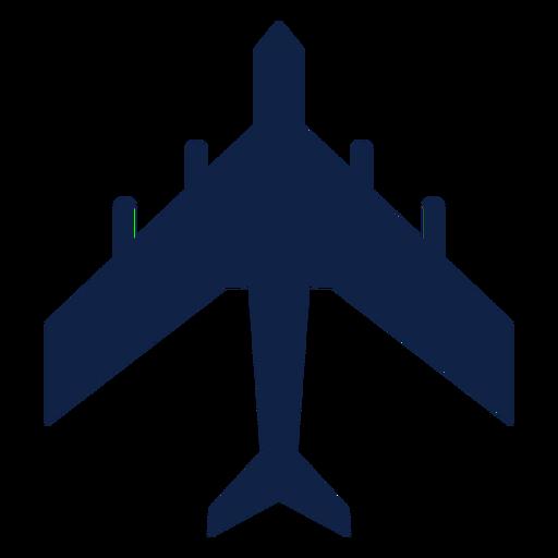 Silhueta de vista superior de avião de transporte militar Transparent PNG