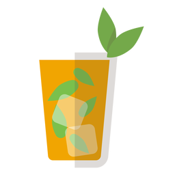 Mint julep cocktail icon