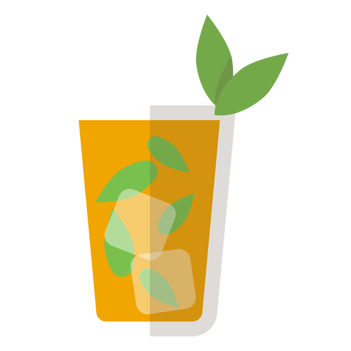 Mint julep cocktail icon Transparent PNG