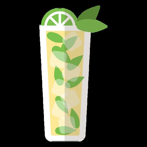 Icono de cóctel mojito Transparent PNG