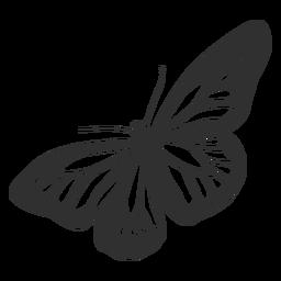 Icono de mariposa monarca plana