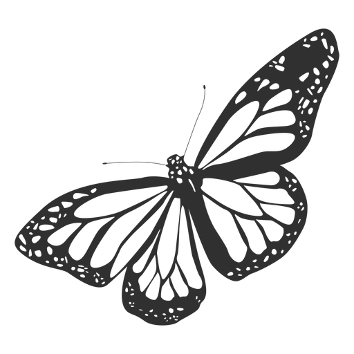 Ícone plana de borboleta monarca Transparent PNG