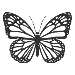 Icono de mariposa monarca