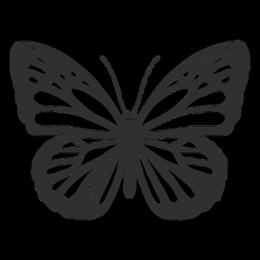 Ícone da borboleta monarca Transparent PNG