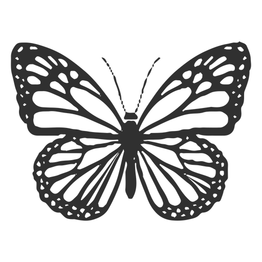 Monarch butterfly icon Transparent PNG