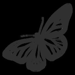 Monarchfalter-Silhouette