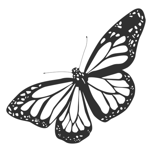 Monarch butterfly silhouette Transparent PNG