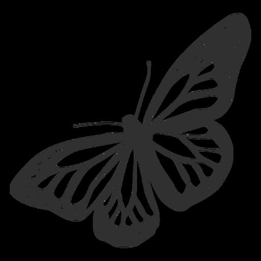 Silueta de mariposa monarca Transparent PNG