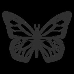 Icono de silueta de mariposa monarca