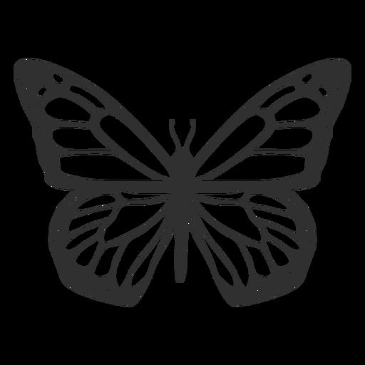 Ícone de silhueta de borboleta monarca Transparent PNG