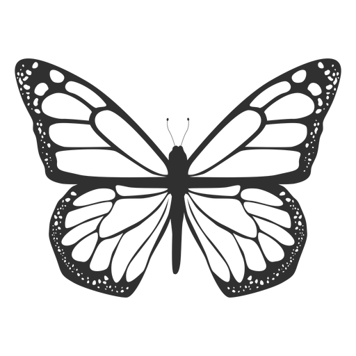 Monarch butterfly silhouette icon Transparent PNG