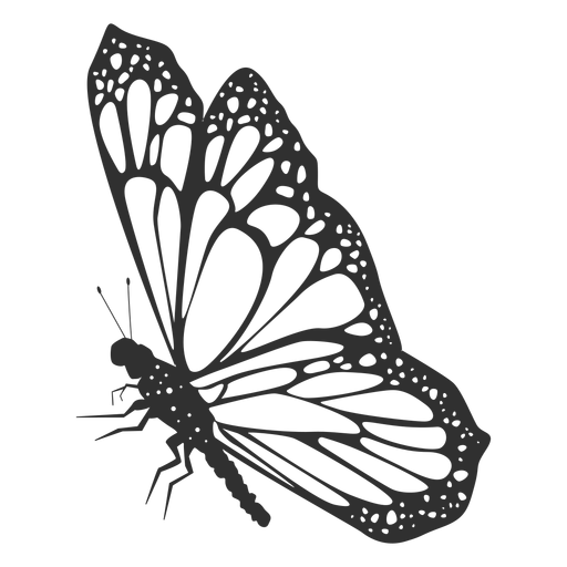 Monarch butterfly still silhouette Transparent PNG