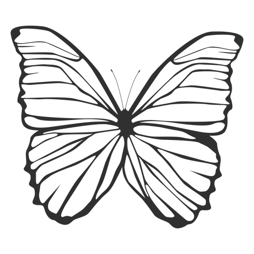 Morpho polyphemus butterfly silhouette Transparent PNG