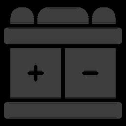 Icono de la batería de la motocicleta