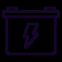 Icono de trazo de batería de motocicleta