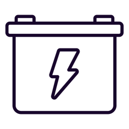 Motorcycle battery stroke icon