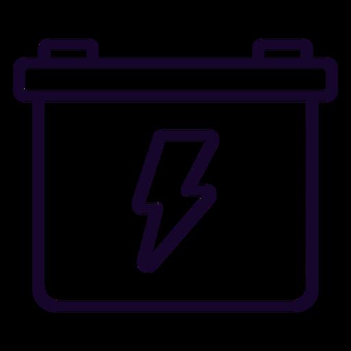 Icono de trazo de batería de motocicleta Transparent PNG