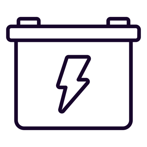 Motorcycle battery stroke icon Transparent PNG