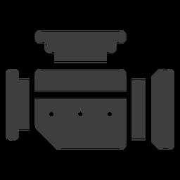 Icono de carburador de motocicleta