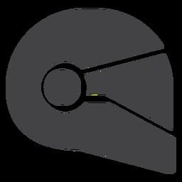 Icono plano de casco de motocicleta