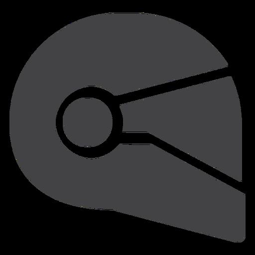 Motorcycle helmet flat icon