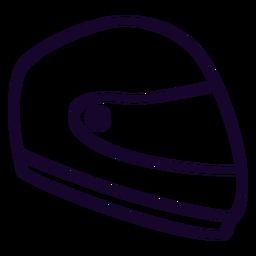 Motorrad Helm flache Symbol Motorrad Symbol