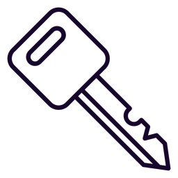 Ícone de traço de chave de motocicleta