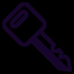 Icono de trazo de llave de motocicleta