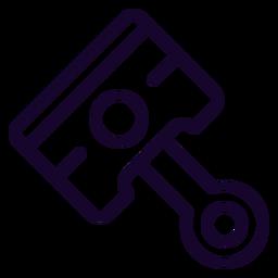 Motorrad Kolbenhub Symbol
