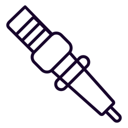 Icono de movimiento de bujía de la motocicleta