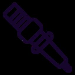 Icono de trazo de bujía de motocicleta