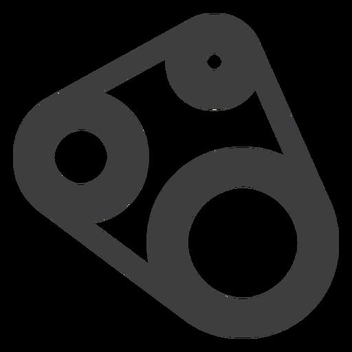 Icono de la correa dentada de la motocicleta Transparent PNG