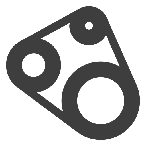 Motorcycle timing belt icon Transparent PNG