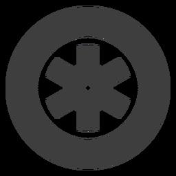 Icono de rueda de motocicleta