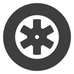 Motorcycle wheel icon