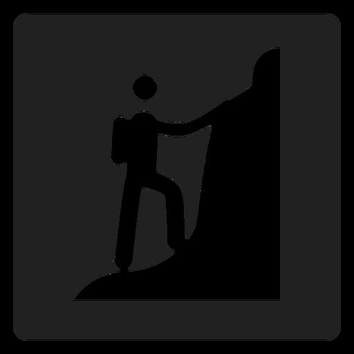 Icono de escalada de montaña Transparent PNG