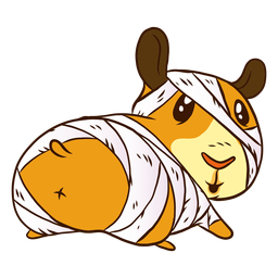 Mummy guinea pig cartoon