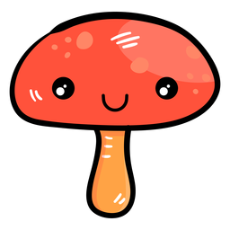 Cogumelo, caricatura, ícone