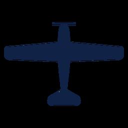Silhueta de vista superior de avião Nakajima