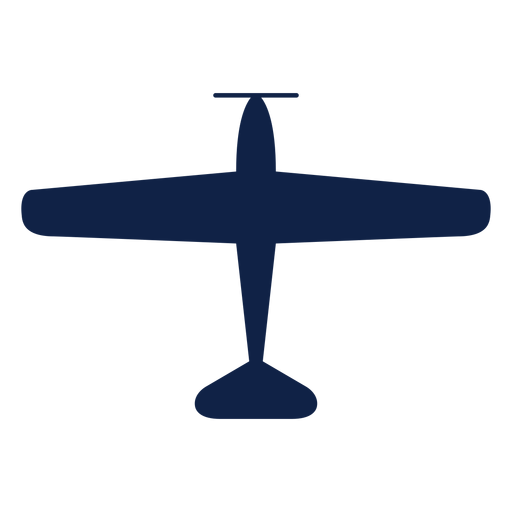 Nakajima airplane top view silhouette Transparent PNG