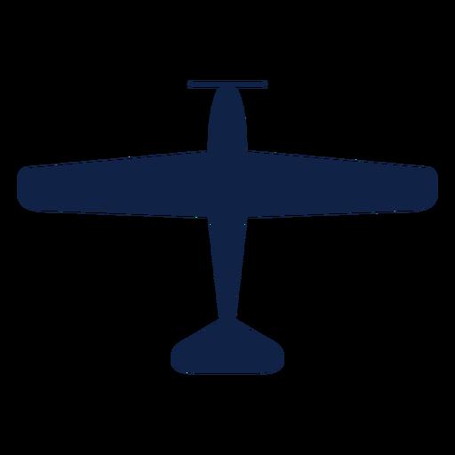 Nakajima airplane top view silhouette