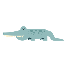 Nile crocodile illustration