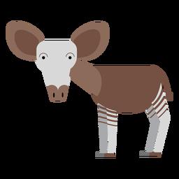 Ilustración de la jirafa Okapi