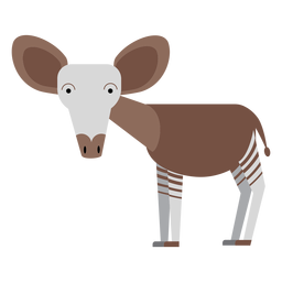 Okapi giraffe illustration