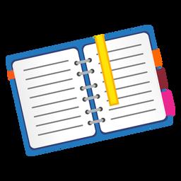 Icono de cuaderno abierto